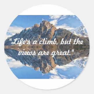 La vie est un autocollant de montée