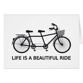 La vie est un beau tour, bicyclette tandem carte de vœux