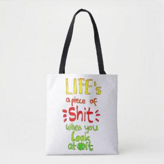 La vie est un morceau de sac de Handlettering