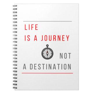 La vie est un voyage, pas une destination - carnet