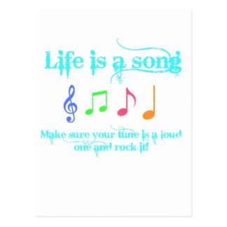 la vie est une chanson carte postale
