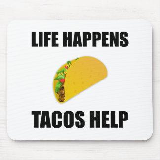 La vie se produit aide de tacos tapis de souris