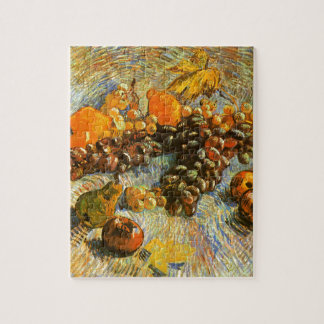 La vie toujours avec des pommes, poires, raisins - puzzle