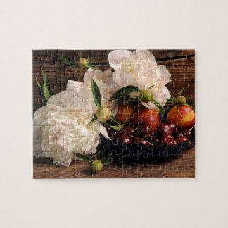 La vie toujours avec les fleurs et le fruit puzzle