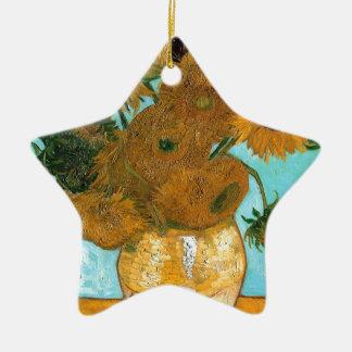 La vie toujours : Tournesols - Vincent van Gogh Ornement Étoile En Céramique
