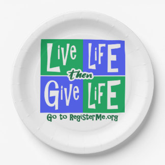 La vie vivante donnent alors la vie assiettes en papier