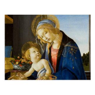 La Vierge et l'enfant par Sandro Botticelli Carte Postale