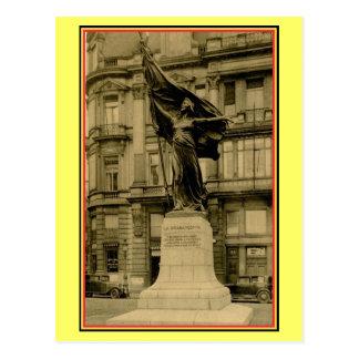La vintage Brabançonne de statue de Bruxelles Carte Postale