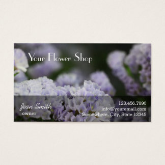 La violette chique fleurit le fleuriste d'arrière cartes de visite