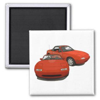 La voiture de sport rouge d'art d'avenue magnets pour réfrigérateur
