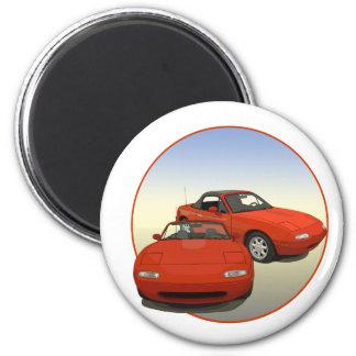 La voiture de sport rouge d'art d'avenue aimants pour réfrigérateur