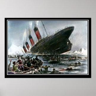 La vue de descente titanique d'artiste série poster