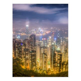 La vue de Hong Kong de la crête Carte Postale