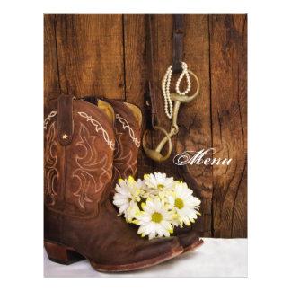 Laarzen Madeliefjes en het Menu van het Huwelijk Folder