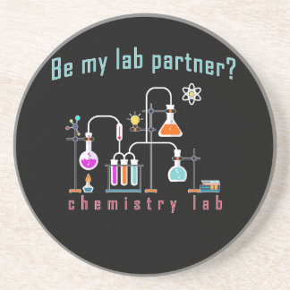 Laboratoire de chimie dessous de verre en grès
