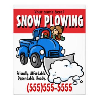 Labourage de neige. Service aux entreprises de Prospectus 11,4 Cm X 14,2 Cm