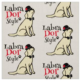 Labrador jaune élégant tissu