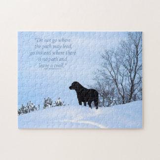 Labrador noir - citation 2 de la vie de chemin puzzle