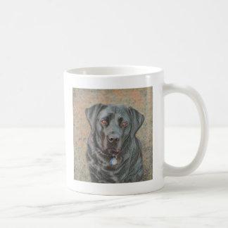 Labrador retriever mug blanc