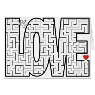Labyrinthe d'amour carte de vœux