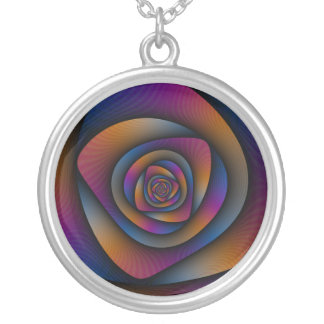 Labyrinthe en spirale de collier dans orange et