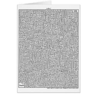 Labyrinthe extraordinaire ! 1 carte de voeux maya