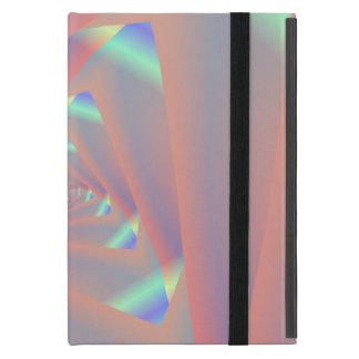 Labyrinthe triangulaire dans le coque ipad rose et