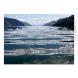 Lac Kootenay de réflexions de lac, Carte De Vœux
