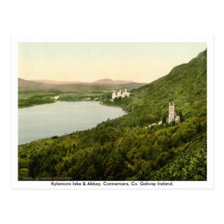 Lac Kylemore et abbaye, Connemara, Galway Irlande Carte Postale