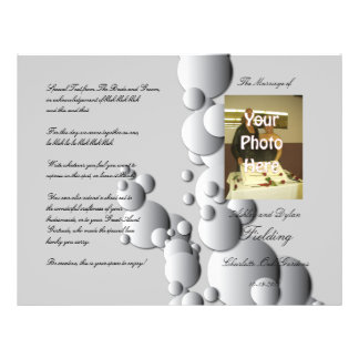 L'acier bouillonne programme de mariage de photo prospectus personnalisés