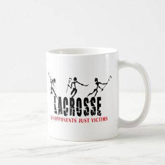 Lacrosse aucuns cadeaux de T-shirts de victimes Mug Blanc