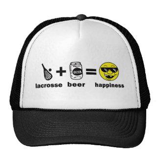 Lacrosse drôle de T-shirt + Bière = bonheur Casquette De Camionneur