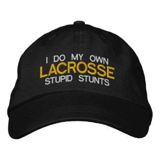 """Lacrosse """"je fais mes propres cascades stupides"""" chapeaux brodés"""