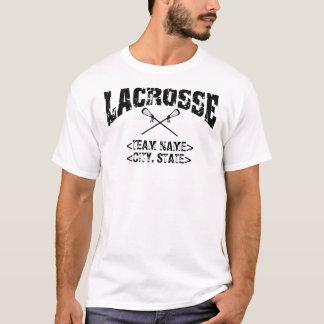 Lacrosse personnalisée de cité d'équipe t-shirt