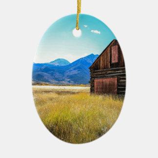 Lacs jumeaux, Leadville, le Colorado Ornement Ovale En Céramique