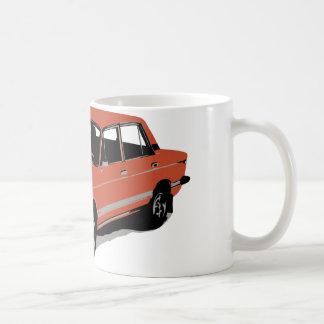 Lada - la voiture russe soviétique mug blanc