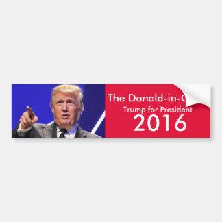 L'adhésif pour pare-chocs de Donald-dans-Chef Autocollant De Voiture