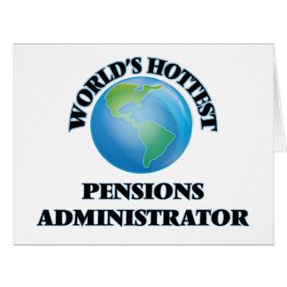 L'administrateur des pensions le plus chaud du cartes de vœux