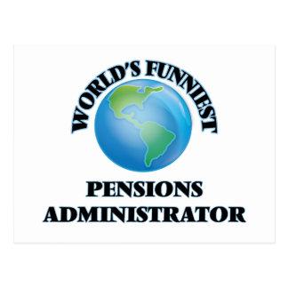 L'administrateur des pensions le plus drôle du cartes postales