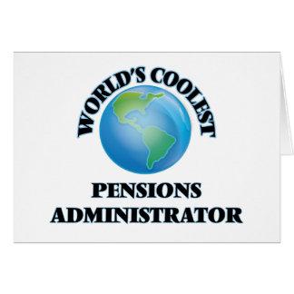 L'administrateur des pensions le plus frais du carte de vœux