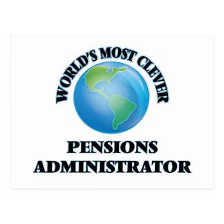 L'administrateur des pensions le plus intelligent carte postale