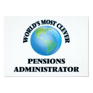L'administrateur des pensions le plus intelligent faire-parts