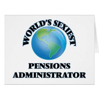 L'administrateur des pensions le plus sexy du cartes de vœux