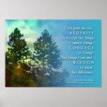 L'affiche d'arbres grands de prière de sérénité