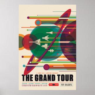 L'affiche de voyage dans l'espace de visite grande poster