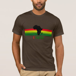 L'AFRIQUE unissent le T-shirt fait sur commande
