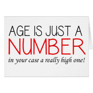 L'âge est juste un nombre - carte d'anniversaire