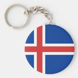 Lage Kosten! De Vlag van IJsland Sleutelhanger