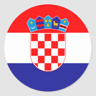 Lage Kosten! Kroatische Vlag Ronde Sticker