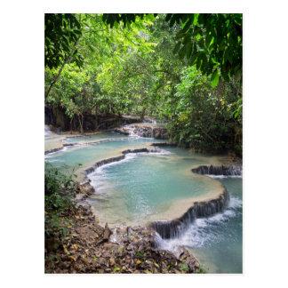 Lagune de rivière de forêt, automnes de Khoung SI, Carte Postale